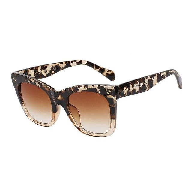 Fiesta - Leopardbrown w brown - Men's & Women's Sunglasses - Wayfarers - Crissado