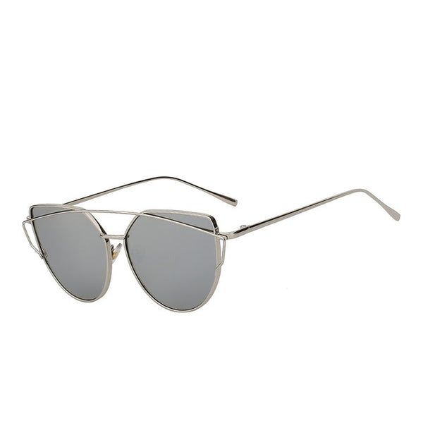 Zampacto - Silver w silver mir - Women's Sunglasses - Cat Eye Sunglasses - Crissado