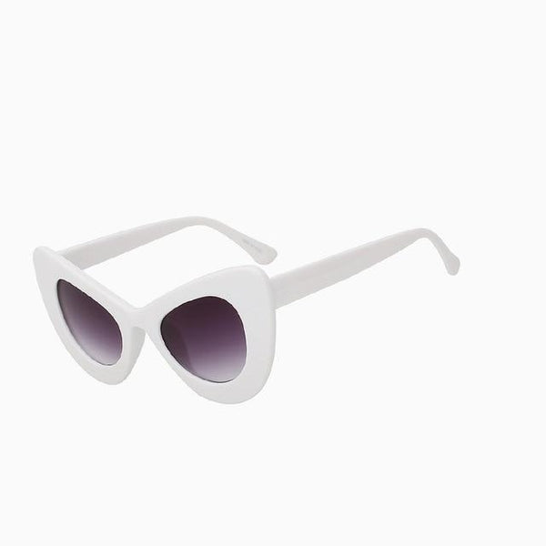 Nekmunnit Sunglasses-White frame-Women's Sunglasses-Cat Eye Sunglasses-Lensuit