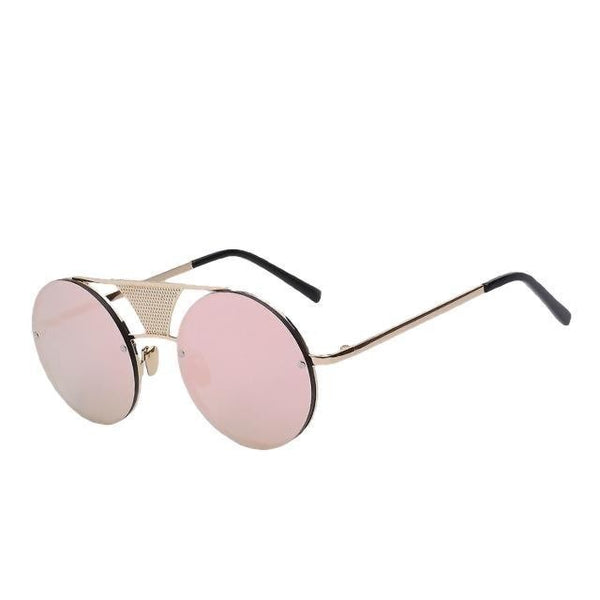 Glory - Gold w pink mirror - Men's Sunglasses - Steampunk Sunglasses - Crissado