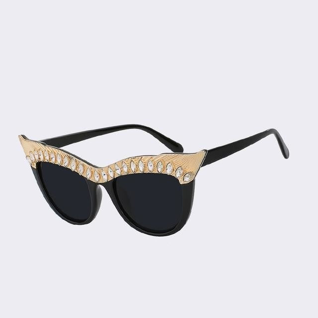 Nalpure - Black w black - Women's Sunglasses - Cat Eye Sunglasses - Crissado