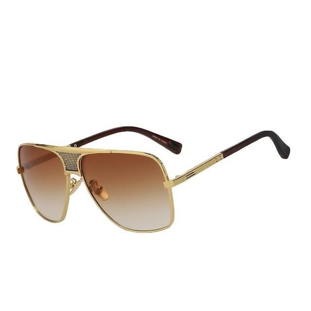 Shorogyt - Brown gold w brown - Men's Sunglasses - Vintage Sunglasses - Crissado