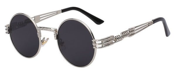 Xeno - Silver w black lens - Men's Sunglasses - Steampunk Sunglasses - Crissado