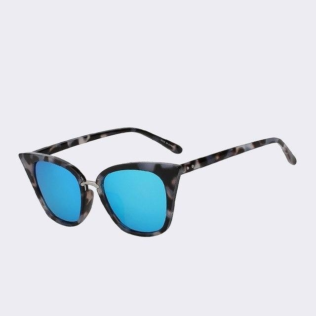 Vasagle - C2 Black blue mirror - Women's Sunglasses - Cat Eye Sunglasses - Crissado