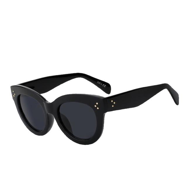BoBoPo - C1 Gloss black - Women's Sunglasses - Cat Eye Sunglasses - Crissado