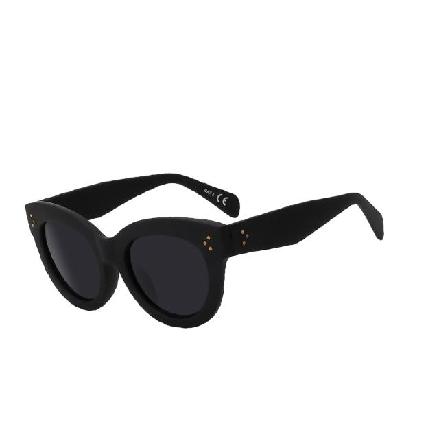BoBoPo-C2 Rubber black-Women's Sunglasses-Cat Eye Sunglasses-Lensuit