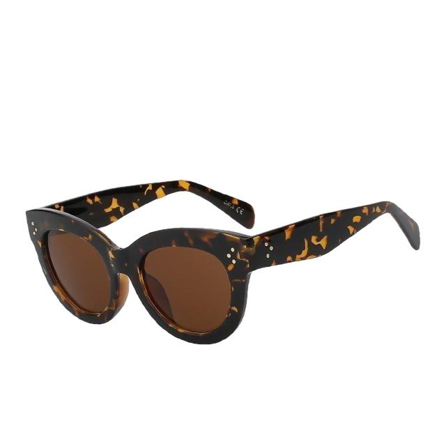 BoBoPo - C3 Leopard brown - Women's Sunglasses - Cat Eye Sunglasses - Crissado
