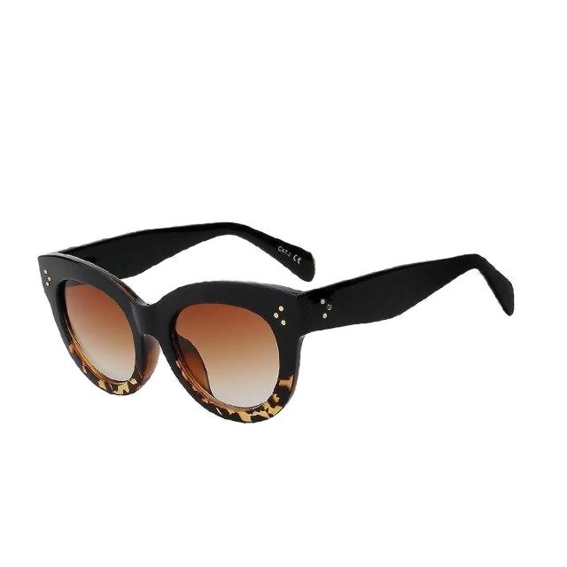 BoBoPo - C6 Black Leopard - Women's Sunglasses - Cat Eye Sunglasses - Crissado