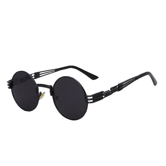 Defas - Black w black - Men's & Women's Sunglasses - Steampunk Sunglasses - Crissado