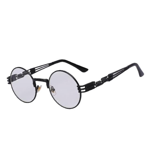 Defas - Black w clear lens - Men's & Women's Sunglasses - Steampunk Sunglasses - Crissado