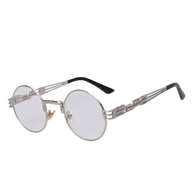 Defas - Silver w clear - Men's & Women's Sunglasses - Steampunk Sunglasses - Crissado
