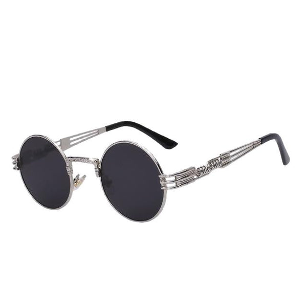 Defas - Silver w black - Men's & Women's Sunglasses - Steampunk Sunglasses - Crissado