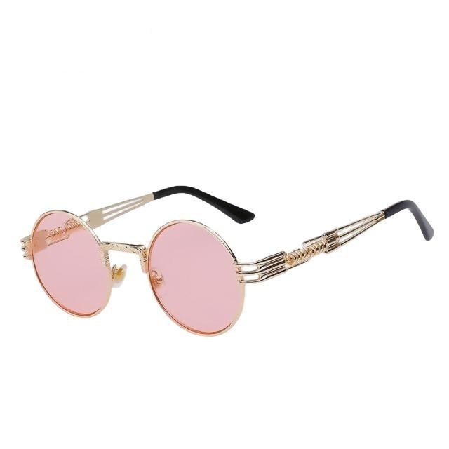 Defas - Gold w sea pink - Men's & Women's Sunglasses - Steampunk Sunglasses - Crissado