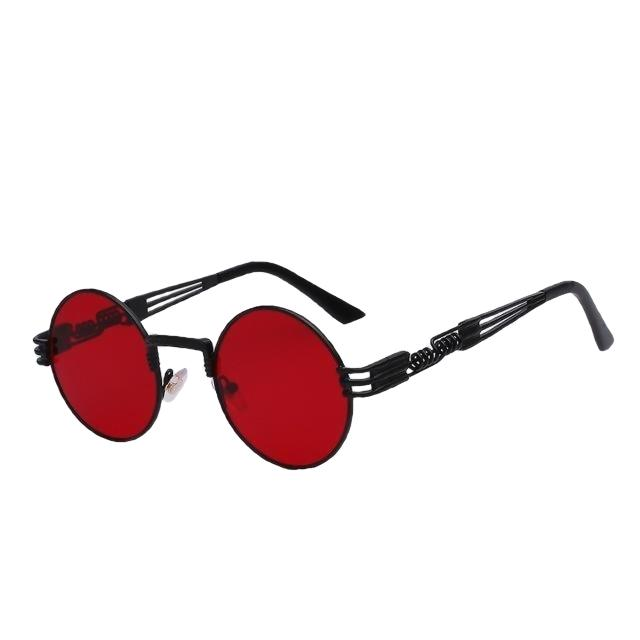 Defas - Black w sea red - Men's & Women's Sunglasses - Steampunk Sunglasses - Crissado