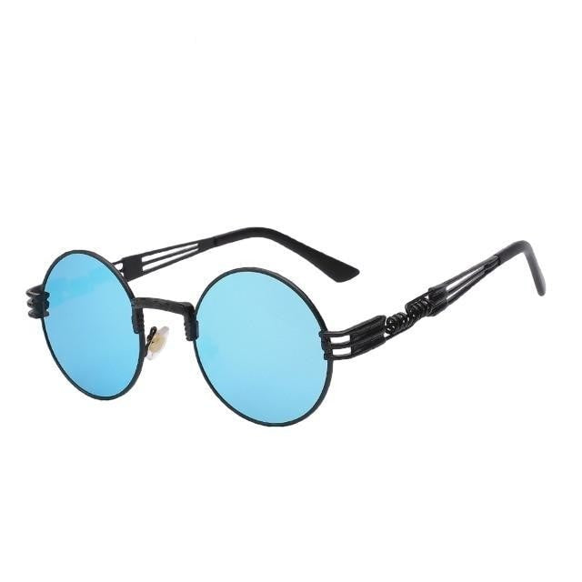 Defas - Black w blue mir - Men's & Women's Sunglasses - Steampunk Sunglasses - Crissado
