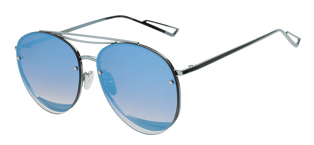 Ociramma - Blue mirror - Women's Sunglasses - Vintage Sunglasses - Crissado