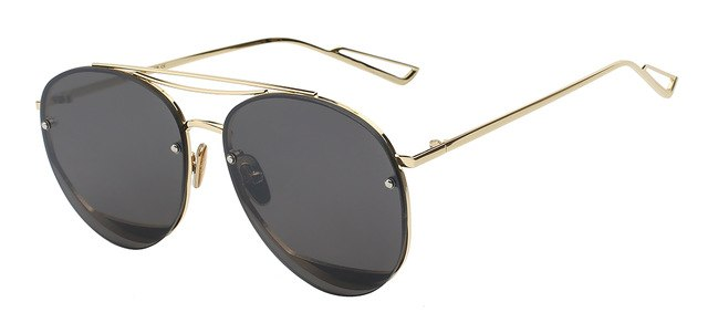 Ociramma - Gold w black - Women's Sunglasses - Vintage Sunglasses - Crissado