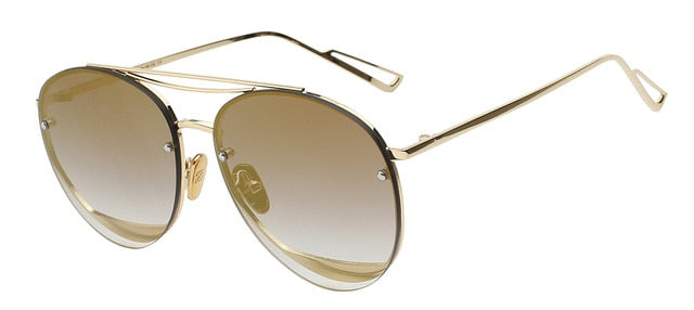 Ociramma - Gold mirror lens - Women's Sunglasses - Vintage Sunglasses - Crissado