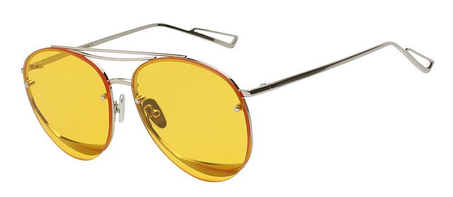 Ociramma - Sea yellow lens - Women's Sunglasses - Vintage Sunglasses - Crissado