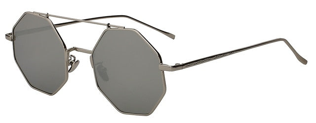 Yodacloud - Silver mirror lens - Men's & Women's Sunglasses - Round Sunglasses - Crissado
