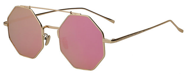 Yodacloud - Magenta mirror - Men's & Women's Sunglasses - Round Sunglasses - Crissado