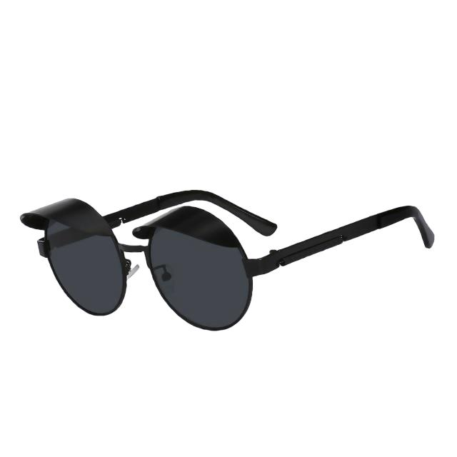 IZZY - Black w black - Men's & Women's Sunglasses - Steampunk Sunglasses - Crissado