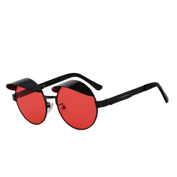 IZZY - Black w sea red - Men's & Women's Sunglasses - Steampunk Sunglasses - Crissado