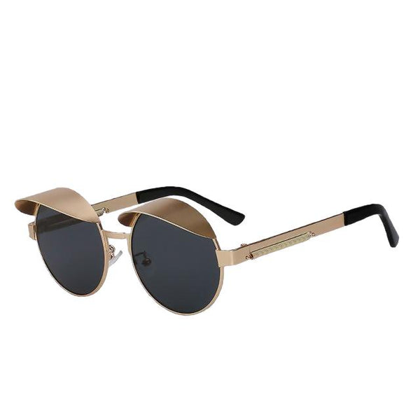 IZZY - Gold w black - Men's & Women's Sunglasses - Steampunk Sunglasses - Crissado