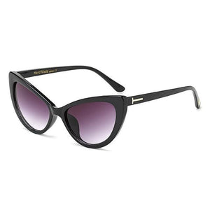 Feandra Sunglasses-C1 Black Gray-Women's Sunglasses-Cat Eye Sunglasses-Lensuit