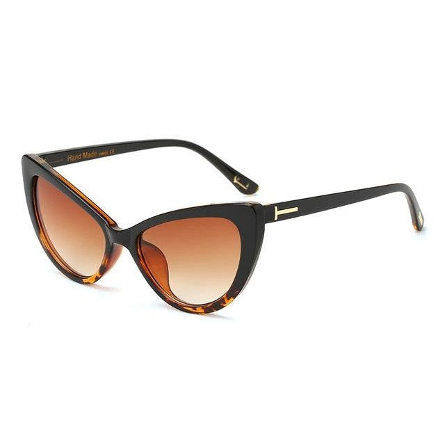 Feandra - C2BlackLeopard Brown - Women's Sunglasses - Cat Eye Sunglasses - Crissado