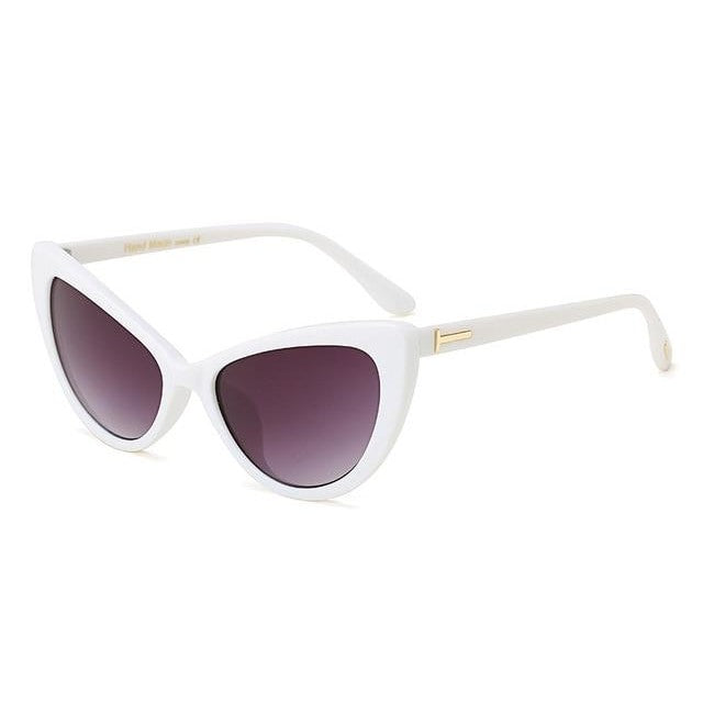 Feandra Sunglasses-C5 White Gray-Women's Sunglasses-Cat Eye Sunglasses-Lensuit