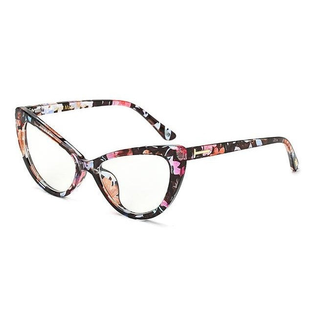 Feandra - C8 Floral Clear - Women's Sunglasses - Cat Eye Sunglasses - Crissado