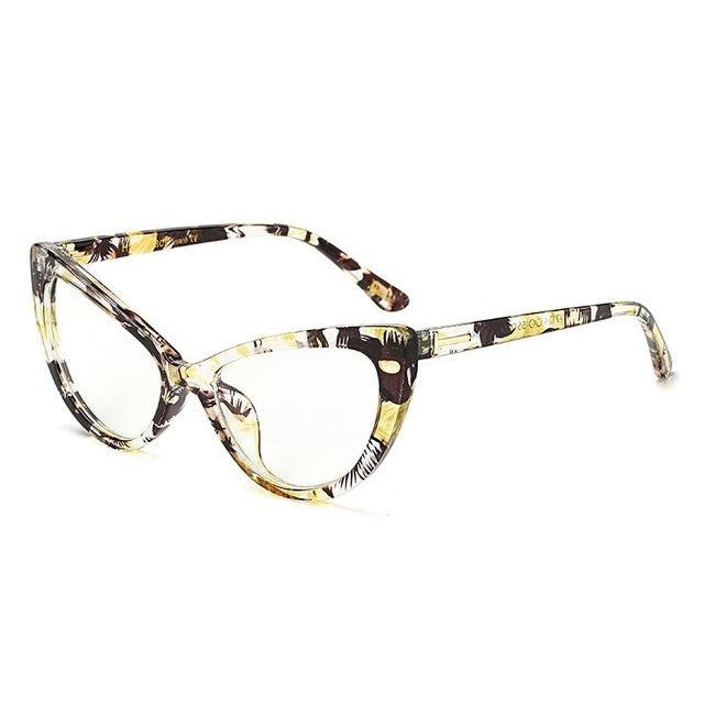 Feandra - C9YellowFloral Clear - Women's Sunglasses - Cat Eye Sunglasses - Crissado