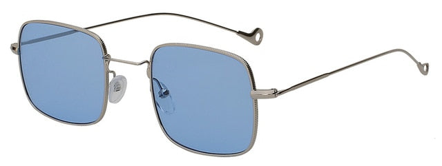 Kizerain - Silver w sea blue - Women's Sunglasses - Vintage Sunglasses - Crissado