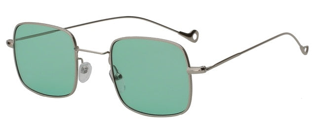 Kizerain - Silver w sea green - Women's Sunglasses - Vintage Sunglasses - Crissado