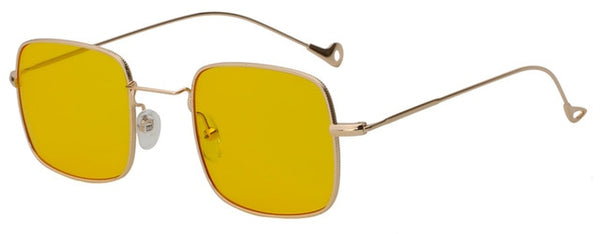 Kizerain - Gold w sea yellow - Women's Sunglasses - Vintage Sunglasses - Crissado