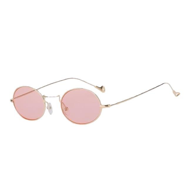 Lorelai - Gold w sea pink - Women's Sunglasses - Round Sunglasses - Crissado