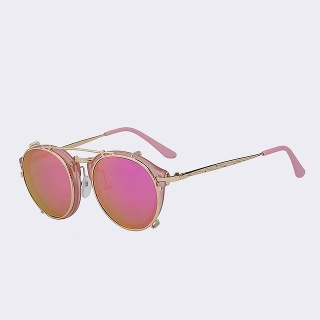 Tracks - Pink w magenta mir - Men's & Women's Sunglasses - Flip Up Sunglasses - Crissado