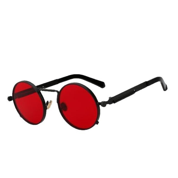 Doggax - Black w sea red - Men's Sunglasses - Steampunk Sunglasses - Crissado
