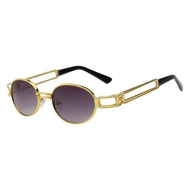 Fanzone Sunglasses-Gold w gradient smok-Men's Sunglasses-Round Sunglasses-Lensuit