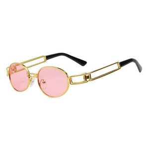 Fanzone Sunglasses-Gold w sea pink-Men's Sunglasses-Round Sunglasses-Lensuit