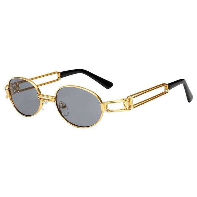 Fanzone Sunglasses-Gold w full smoke-Men's Sunglasses-Round Sunglasses-Lensuit