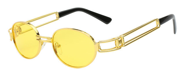 Fanzone Sunglasses-Gold w sea yellow-Men's Sunglasses-Round Sunglasses-Lensuit