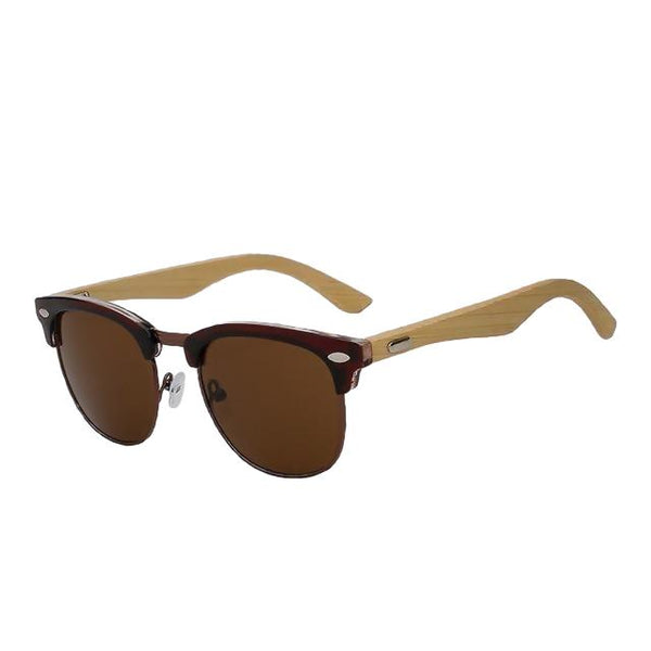 Prizzle - Brown w brown - Men's & Women's Sunglasses - Wayfarers - Crissado