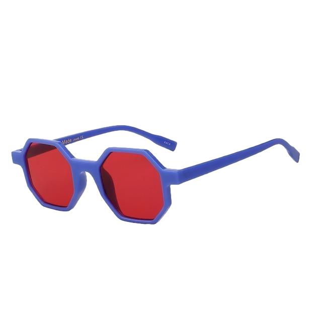 Modax Sunglasses-Blue w sea red-Women's Sunglasses-Vintage Sunglasses-Lensuit