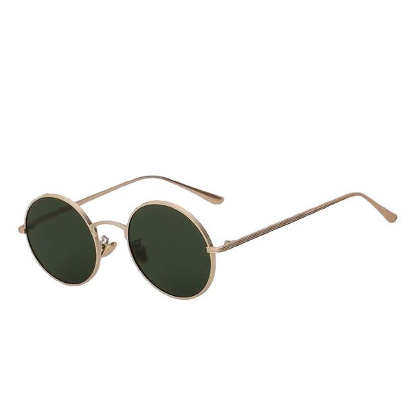 Skizzle - Gold w G15 - Men's Sunglasses - Round Sunglasses - Crissado