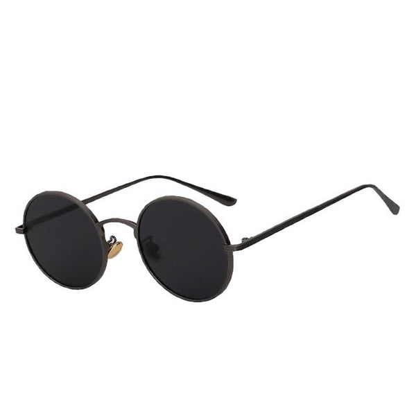 Skizzle - Gun w black - Men's Sunglasses - Round Sunglasses - Crissado