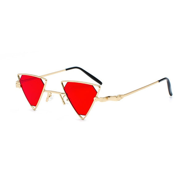 CHEEDO - C2-Gold-Red - Women's Sunglasses - Vintage Sunglasses - Crissado
