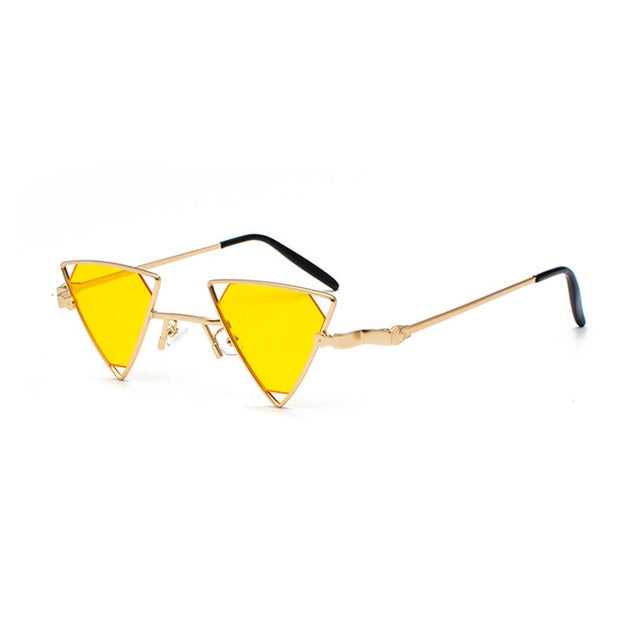 CHEEDO - C5-Gold-Yellow - Women's Sunglasses - Vintage Sunglasses - Crissado