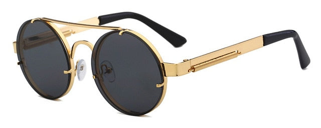 Peekaboo - Gold & Black - Men's Sunglasses - Steampunk Sunglasses - Crissado
